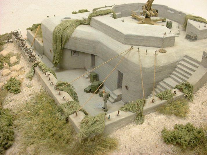 maquette bunker 1 35. Black Bedroom Furniture Sets. Home Design Ideas